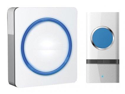 Bezdrátový zvonek 1L20, 1x tlačítko, bílý