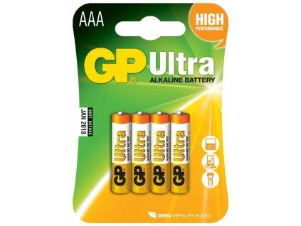 Baterie AAA/LR03 GP Ultra Alkaline 4ks (blistr)