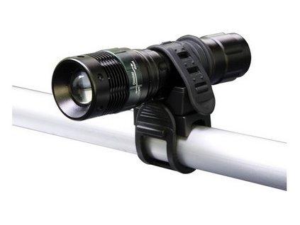 LED kovová cyklosvítilna s držákem na kolo FOKUS EMOS LFT1328 3W/120Lm 3 x baterie AAA