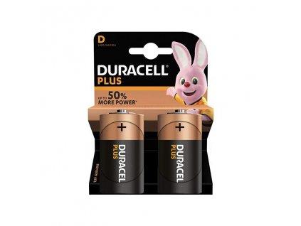 Baterie LR20/D Duracell Plus 2ks (blistr)