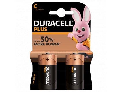 Baterie LR14/C Duracell Plus 2ks (blistr)