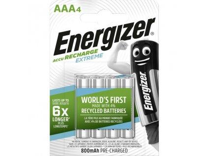 Baterie AAA/HR03 800mAh ENERGIZER EXTREME 4ks (blistr)
