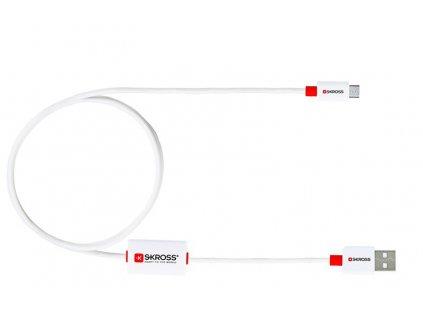 Datový USB kabel BUZZ DC 21 micro USB, alarm, 1m