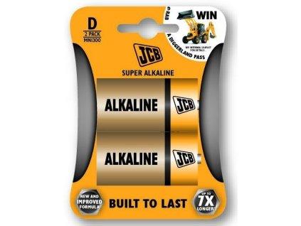 Baterie LR20/D JCB SUPER 2ks (blistr)