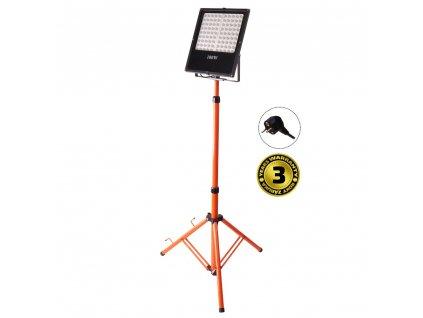 LED přenosný reflektor 100W/230V/6000K/8500Lm/IP44 oranžovo-černý se stojanem