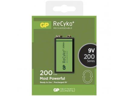 Baterie 9V/200mAh GP ReCyko+ 1ks (blistr)