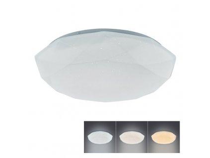 LED přisazené svítidlo DIAMANT 18W/230V/1350Lm/3000-6500K/IP20 kruhové bílé