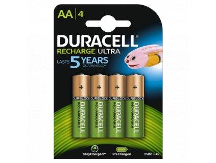 Baterie AA/HR6 2500mAh DURACELL RECHARGE ULTRA 4ks (blistr)