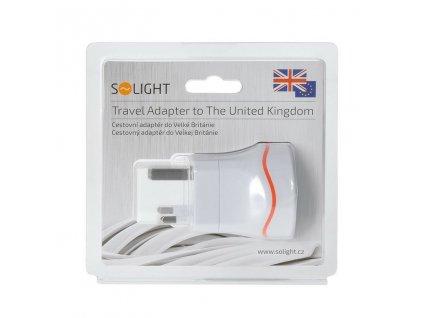 Cestovní adaptér pro použití v UK (Anglie) SOLIGHT PA01-UK