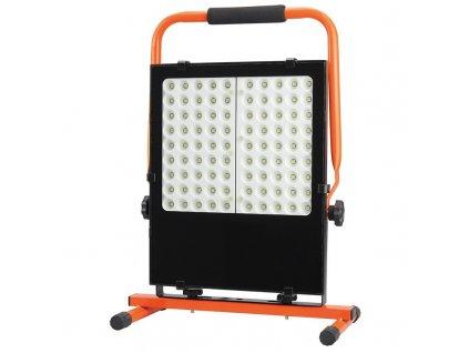 LED přenosný reflektor 100W/230V/5000K/8500Lm/IP44 oranžovo-černý se stojanem