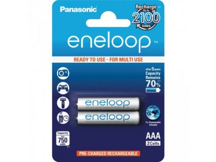 Baterie AAA/HR03 800mAh Panasonic ENELOOP 2ks (blistr)
