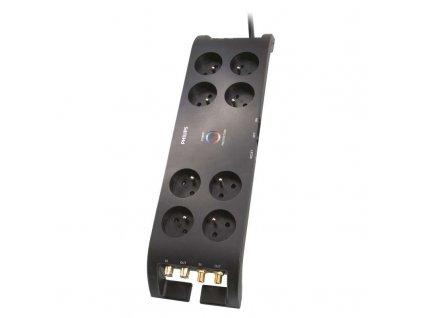 Přepěťová ochrana PHILIPS P54050, 3600J, 8x zásuvka, 3m, černá