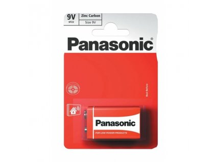 Zinkochloridová 9V baterie Panasonic 1ks (blistr)