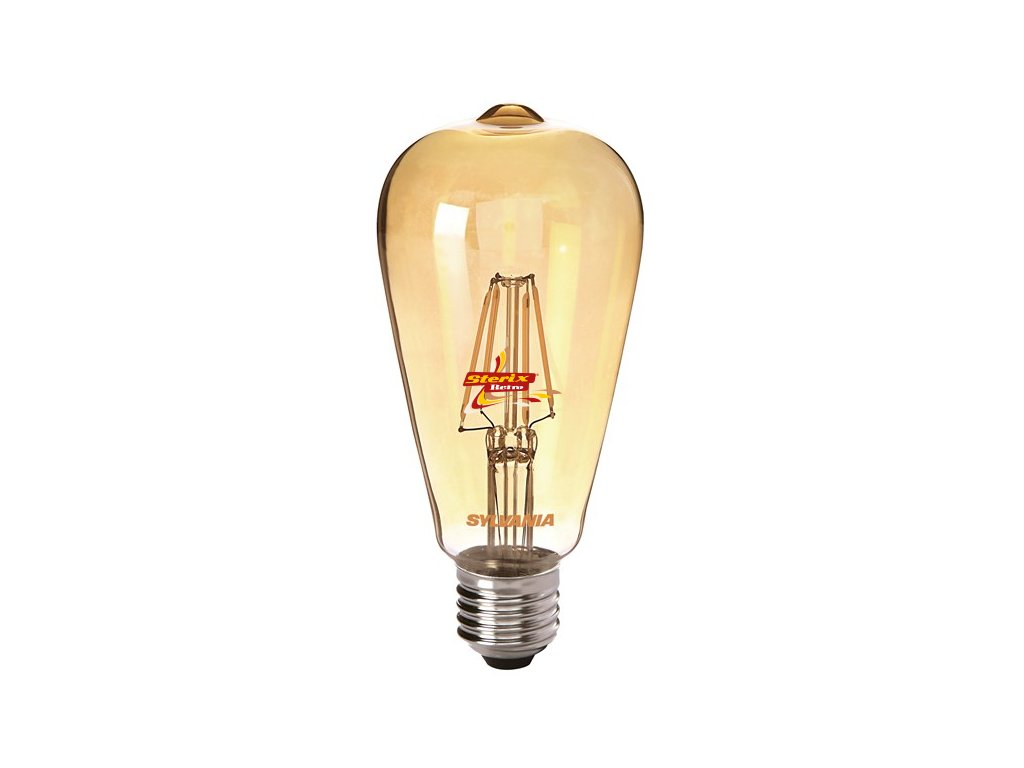 ToLEDo ST64 Golden V3 E27 retro LED žárovka