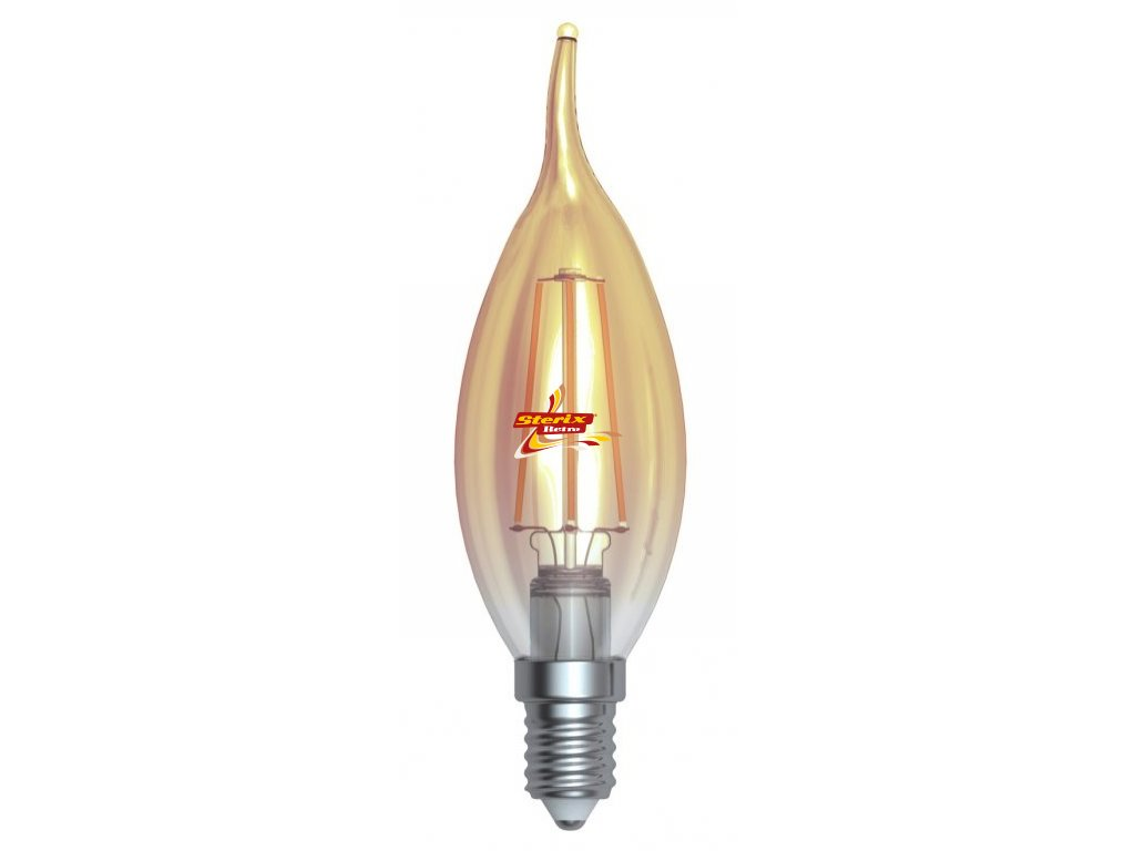 LED plamínek 4W E14 2200K retro LED žárovka