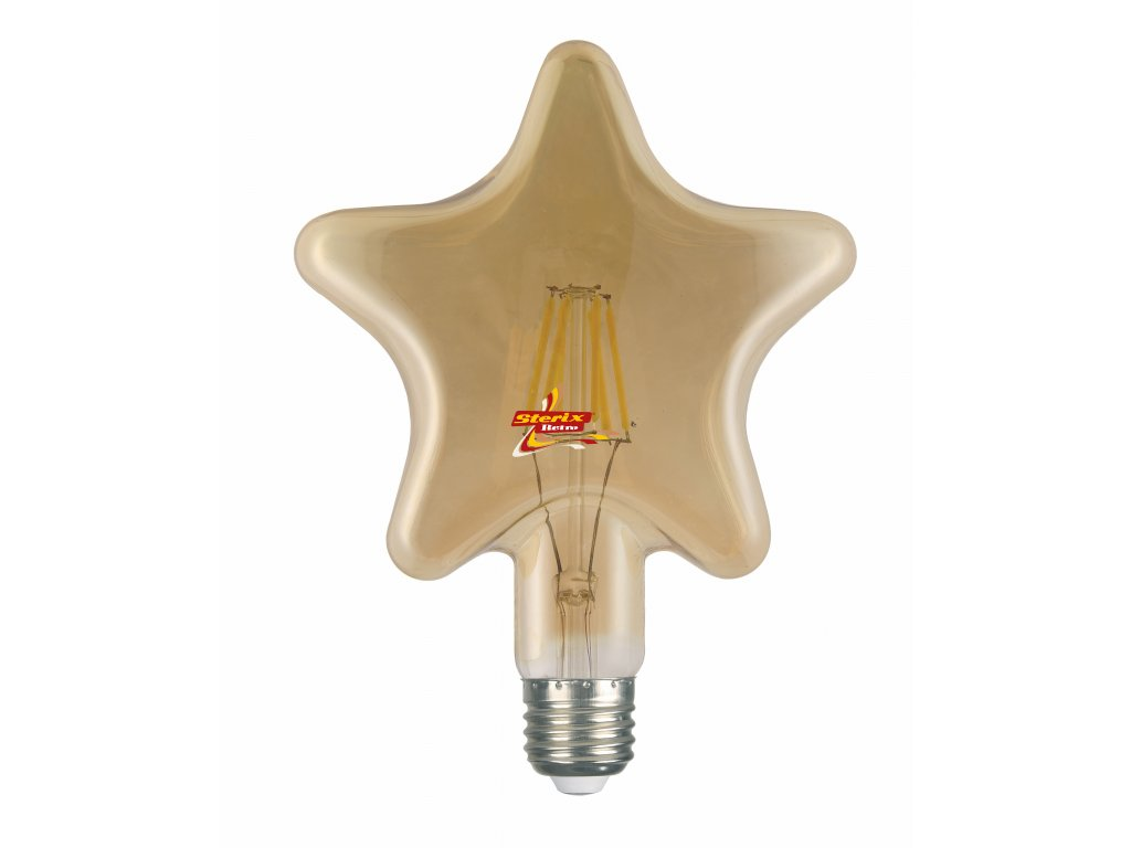 Retro LED žárovka Star Gold
