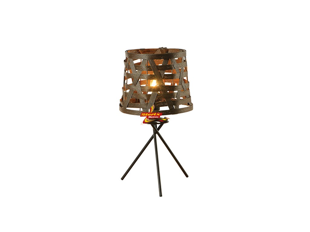 Stolní lampa Cane Brown