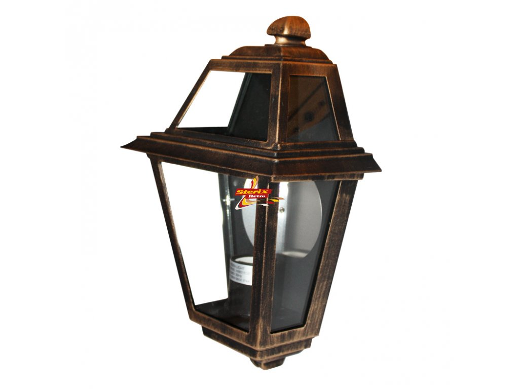 Wall Lantern Gold-Black IP44