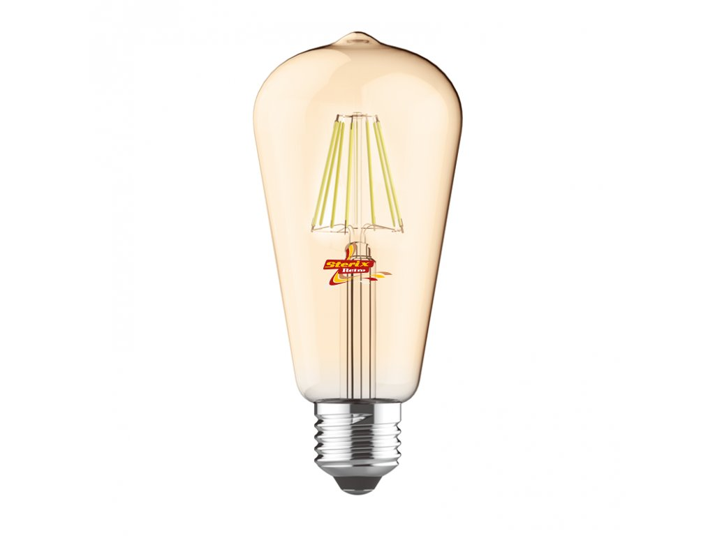 LED retro žárovka ST64 Gold 8W/760lm/E27/Step Dim