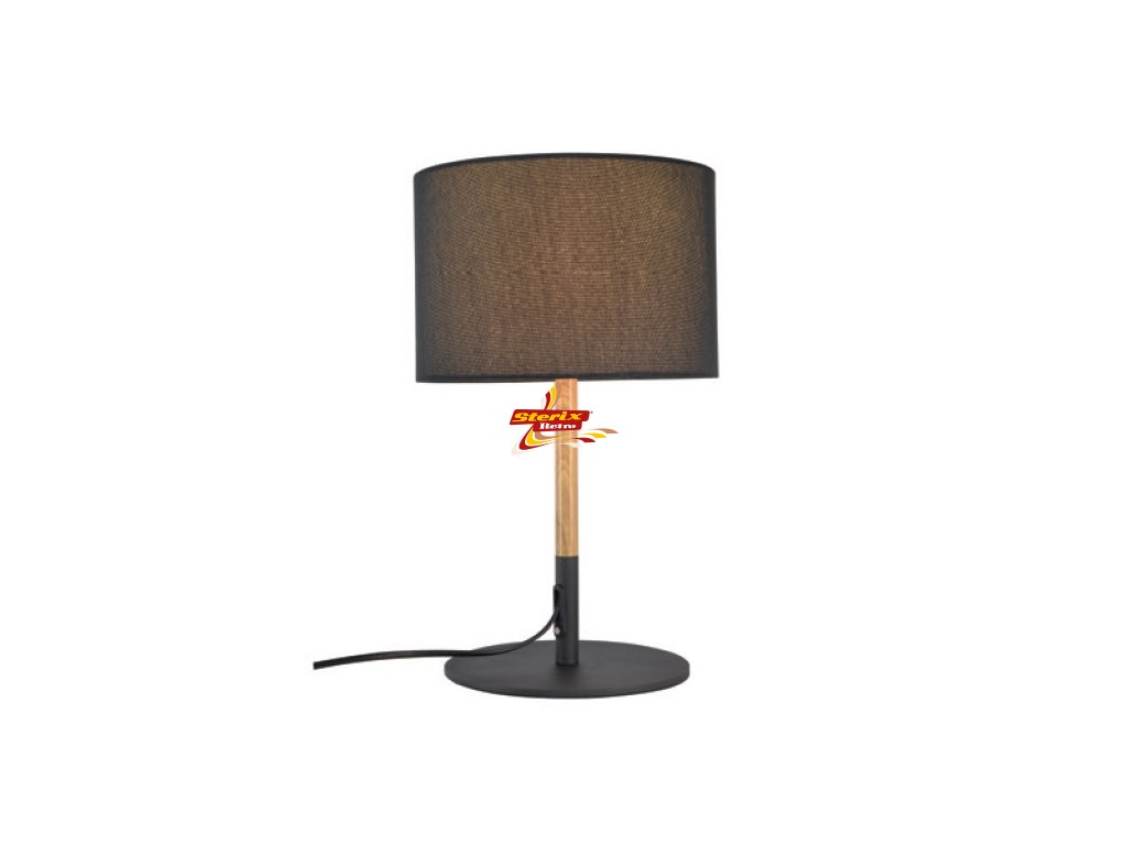Stolní lampa Fabric Black