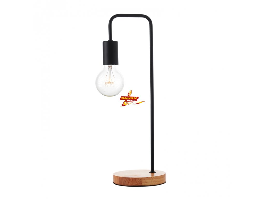 Stolní lampa Wood Black
