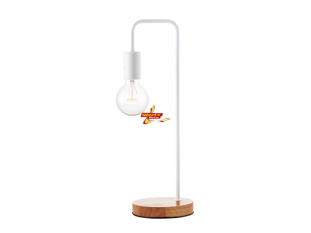 Stolní lampa Wood White