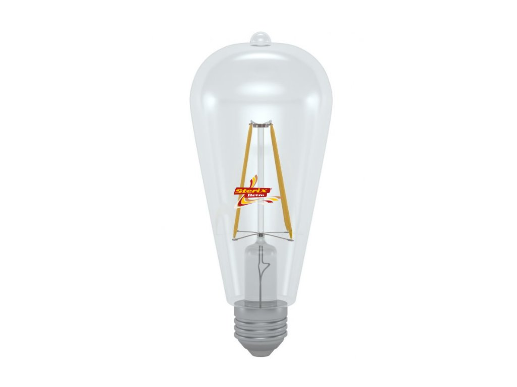 LED ST64-2706C 6W E27 3000K retro LED žárovka