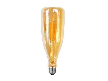 LED Bottle E27 Gold retro LED žárovka