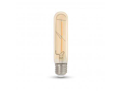 LED Tubular T30 Gold E27 2W 2700K retro LED žárovka