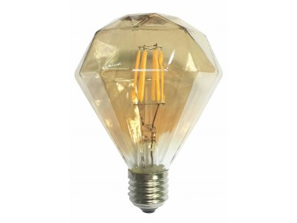 LED Decorative E27 Gold retro LED žárovka
