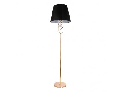 Stojací lampa Fabric Copper Black