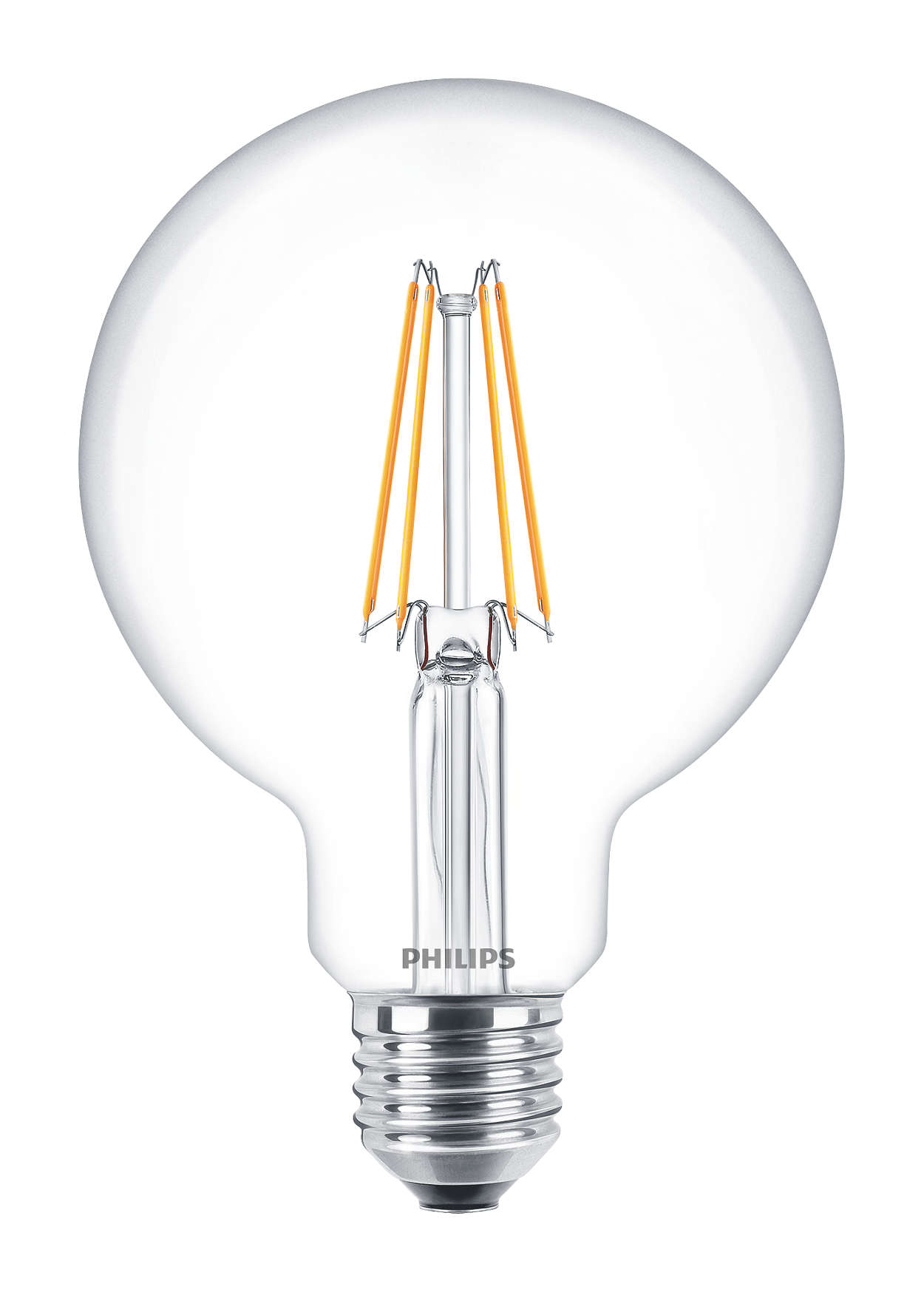 PHILIPS FILAMENT Classic LEDglobe 6-60W E27 827 G93 ND retro LED žárovka