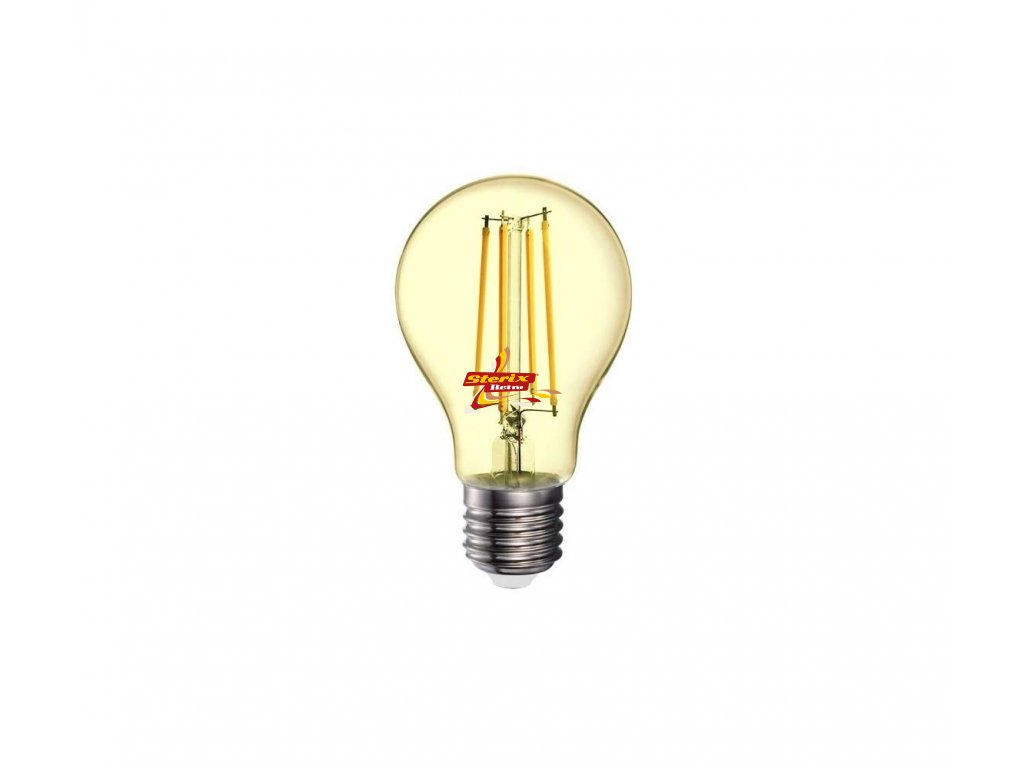 LED Filament E27 A70 Amber Cover 2200K