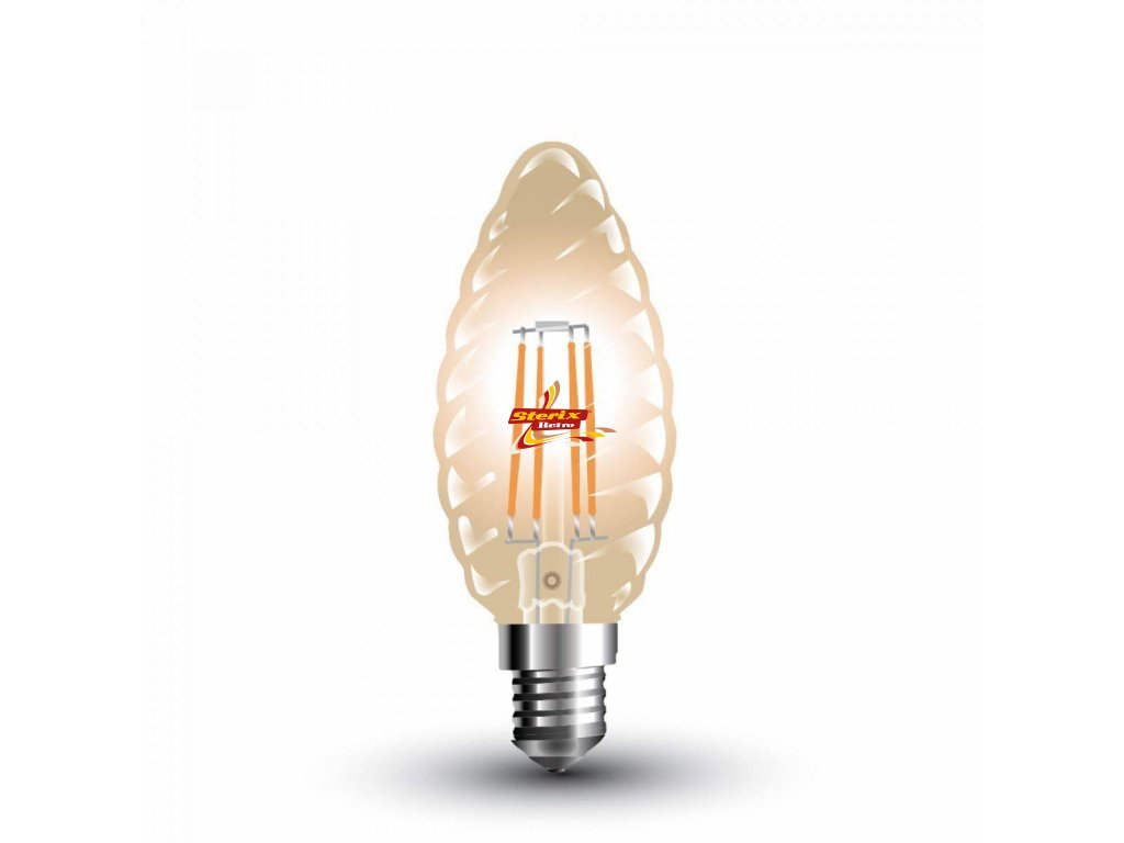 Filament E14 Candle Amber Cover Twist