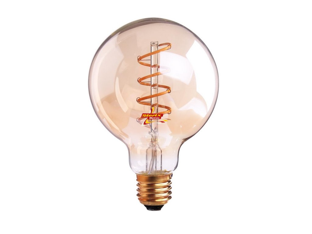 EDISON LED žárovka G95 Gold