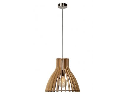 BOUNDE - Pendant light - Ø 35 cm - Light wood