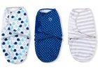 Summer Infant SwaddleMe zavinovačka sada 3ks modrá - velrybky, hvězdičky, proužky- Doprava zdarma