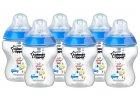 Tommee Tippee modrá sada lahviček C2N 6ks s autíčky