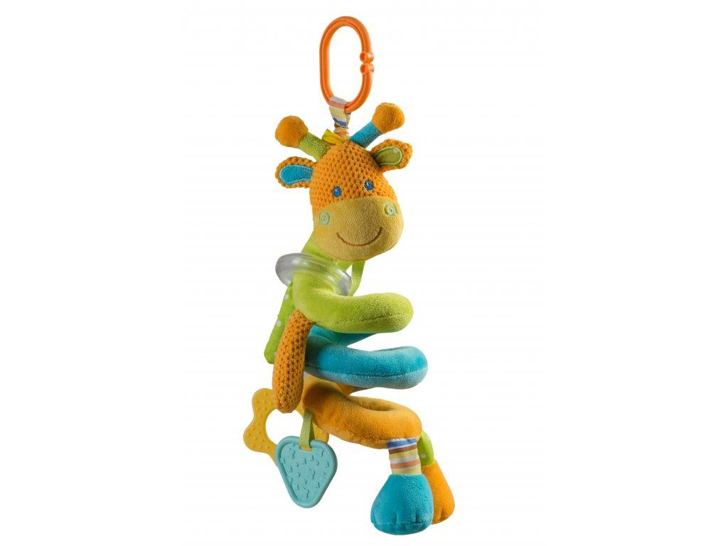 Baby Ono Spirála na postýlku oranžová žirafka