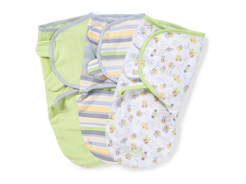 Summer Infant SwaddleMe zavinovačka sada 3ks - zelenožlutá Busy Bee - Doprava zdarma velikost: S (3,2-6,4kg) od narození do cca 3 měsíců