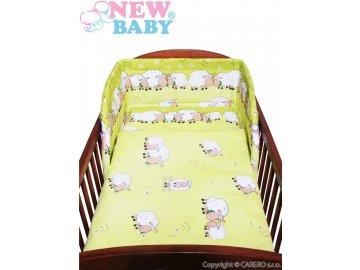New Baby 2-dílné zelené povlečení - bílé ovečky