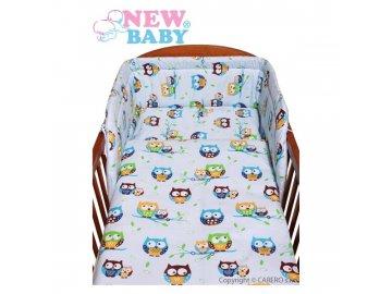 New Baby 2-dílné povlečení - modré - sovičky