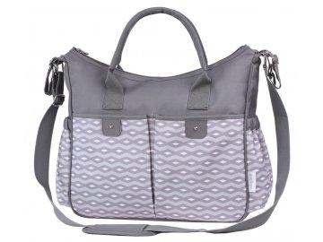 Baby Ono přebalovací taška na kočárek So City šedá se vzorem