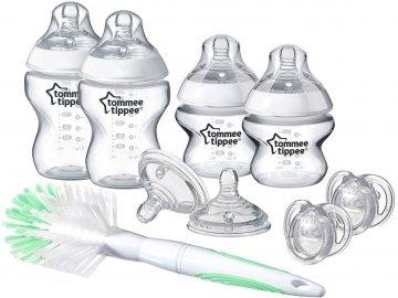 Tommee Tippee sada kojeneckých lahviček C2N s kartáčem a šidítky