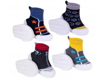 YO Ponožky s gumovou podrážkou froté chlapecké