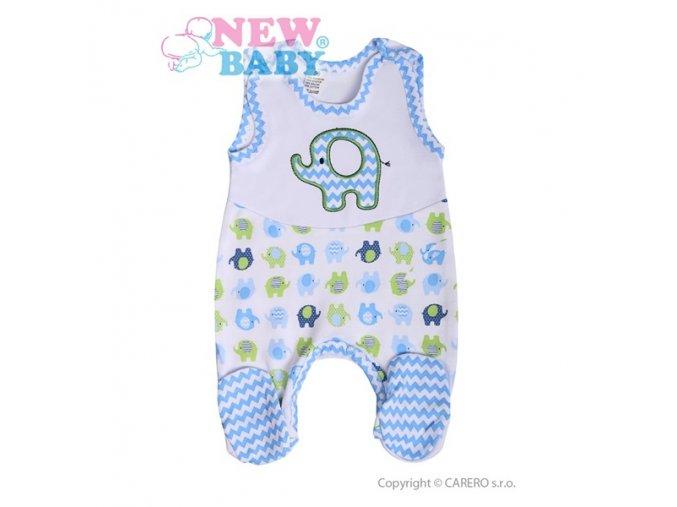 Kojenecké dupačky New Baby Sloník bílo-modré