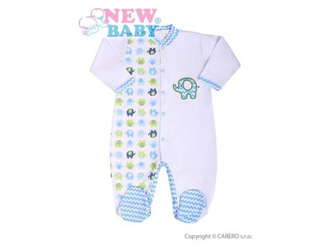 Kojenecký overal New Baby Sloník bílo-modrý