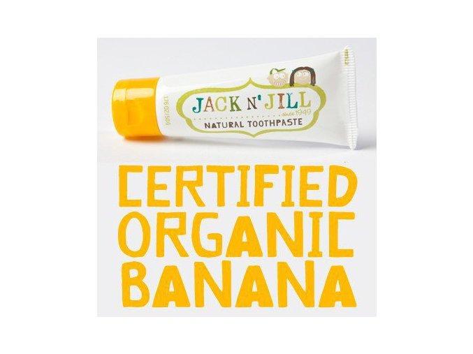 Jack N´ Jill dětská přírodní zubní pasta s příchutí Banán 50 g