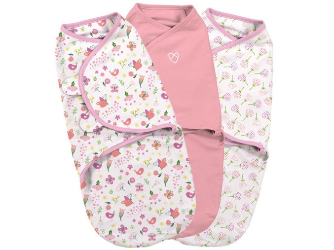 Summer Infant SwaddleMe zavinovačka růžová sada, 3ks