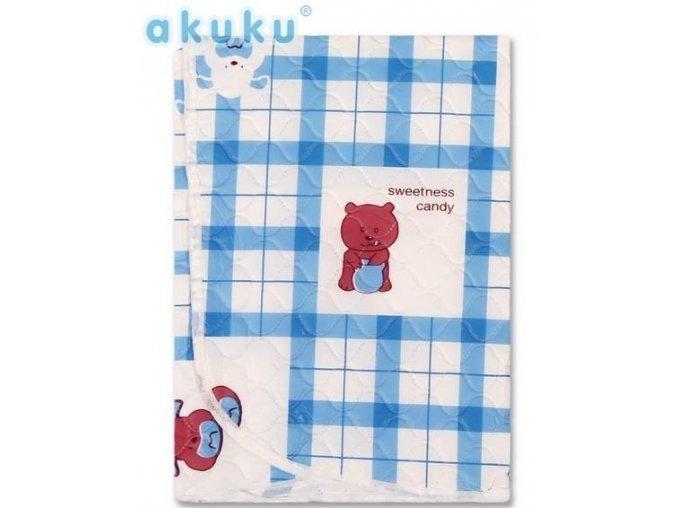 Přebalovací podložka Akuku 55x70 - modrá s medvídky